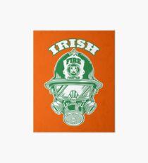 Irish Fire fighter St Patrick's Humor T-Shirt Gift Art Board