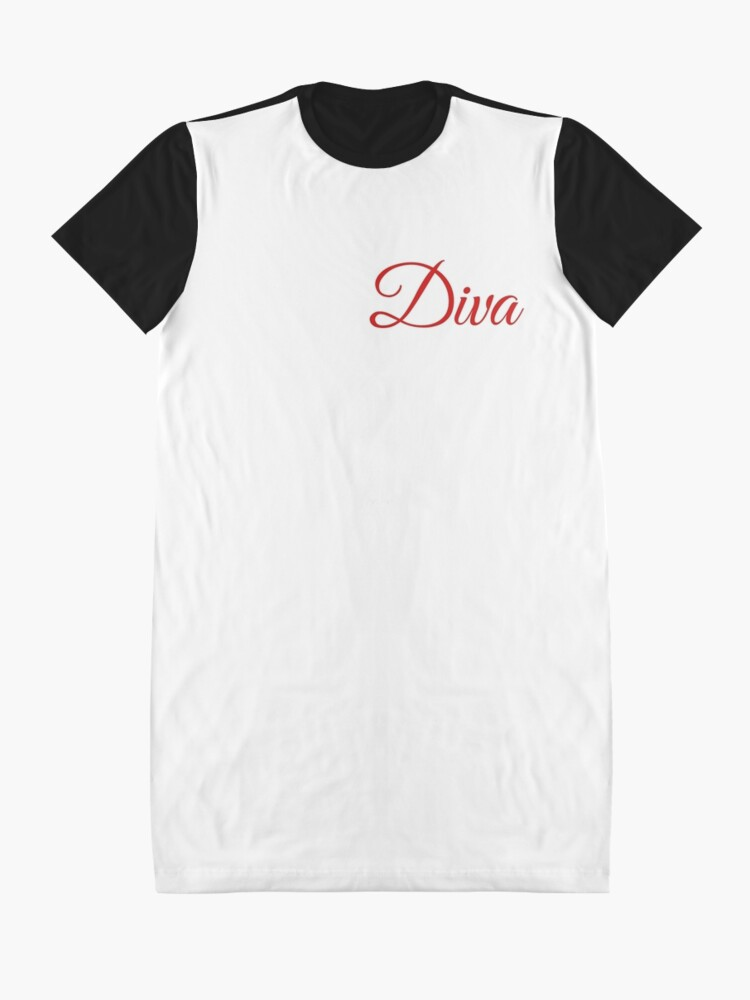 Alternate view of Diva Graphic T-Shirt Dress