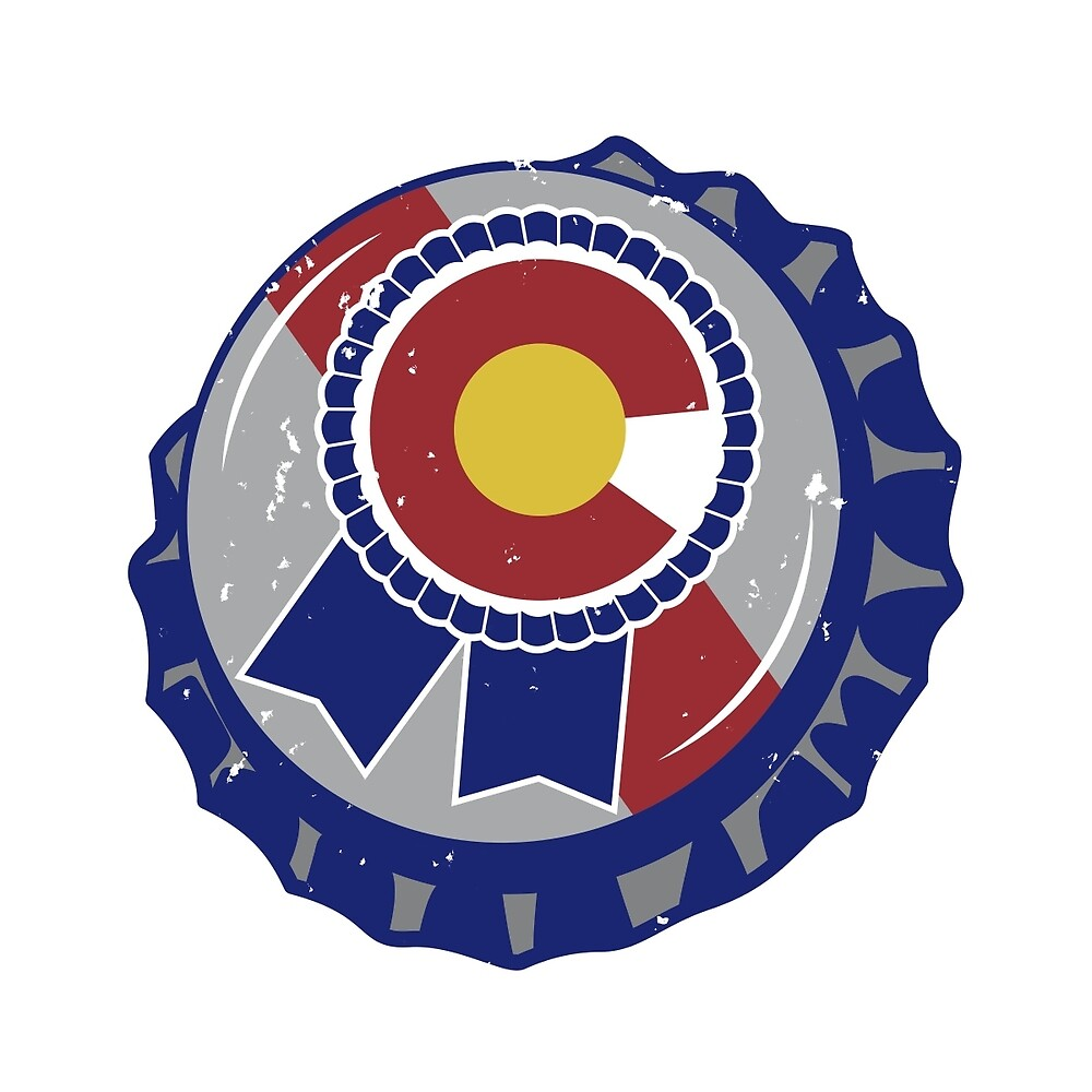 Colorado Blue Ribbon Bottle Cap by stcoraline