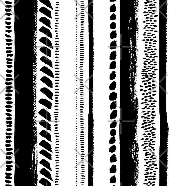 Tribal ink stripes by Alena Tselesh
