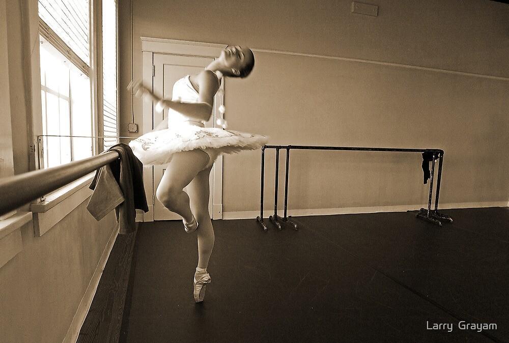 Ballerina in sepia by Larry  Grayam