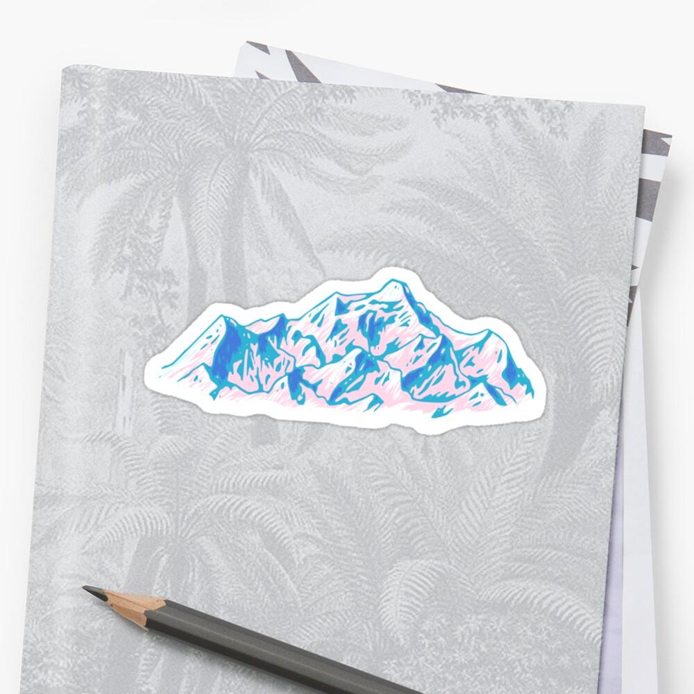 Montañas de la cascada Pegatinas