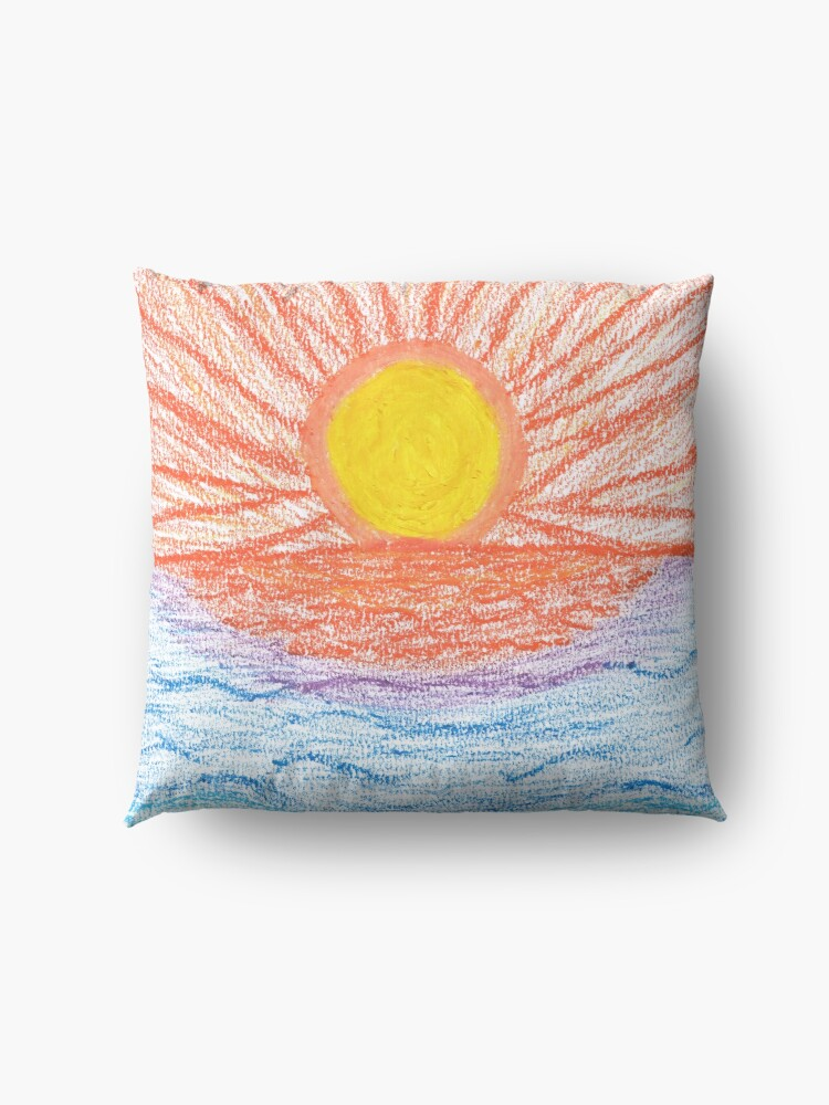 Alternate view of Merch #28 -- Sea Sunset Floor Pillow