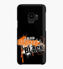 I Bleed Orange and Black Case/Skin for Samsung Galaxy