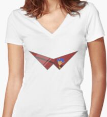 Kamina Glasses on a Thing for Cool Dudes and Dudes that are Girls Women's Fitted V-Neck T-Shirt
