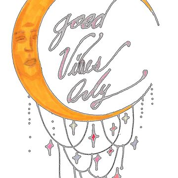 Good Vibes Moon by ogfx