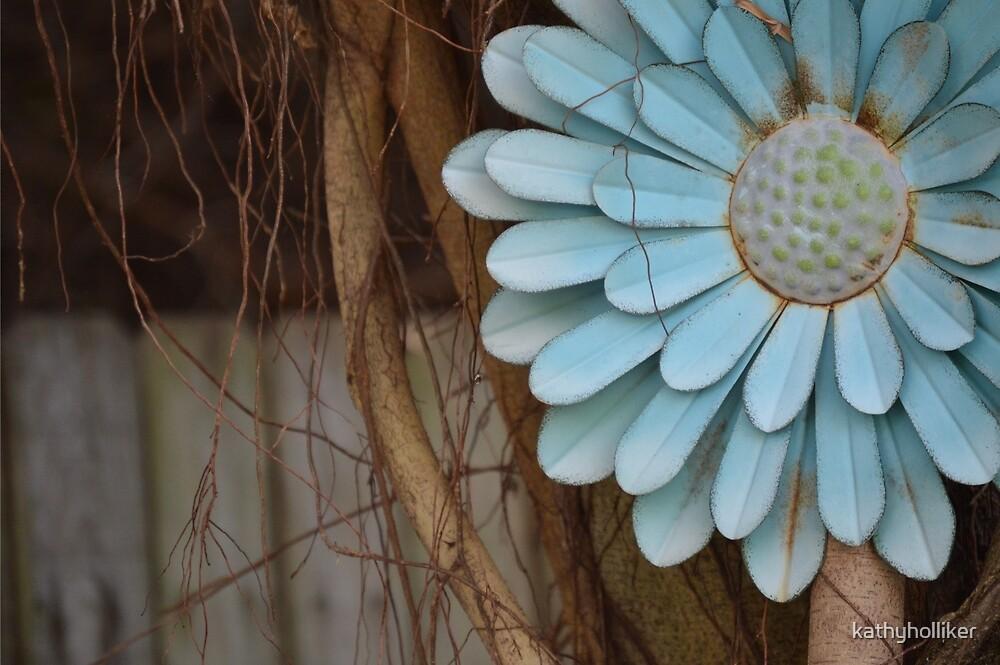 BIG BLUE FLOWER by kathyholliker
