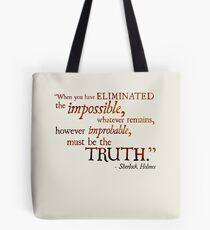 Sherlock Holmes - Eliminate the Impossible Tote Bag