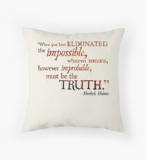 Sherlock Holmes - Eliminate the Impossible Throw Pillow