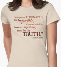 Sherlock Holmes - Eliminate the Impossible Women's Fitted T-Shirt
