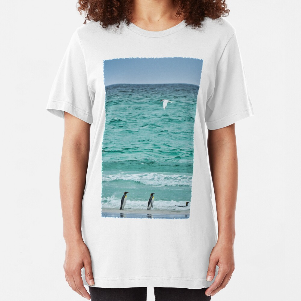 Volunteer Point Seascape Slim Fit T-Shirt