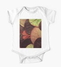 Brown Leaf Pattern Kids Clothes