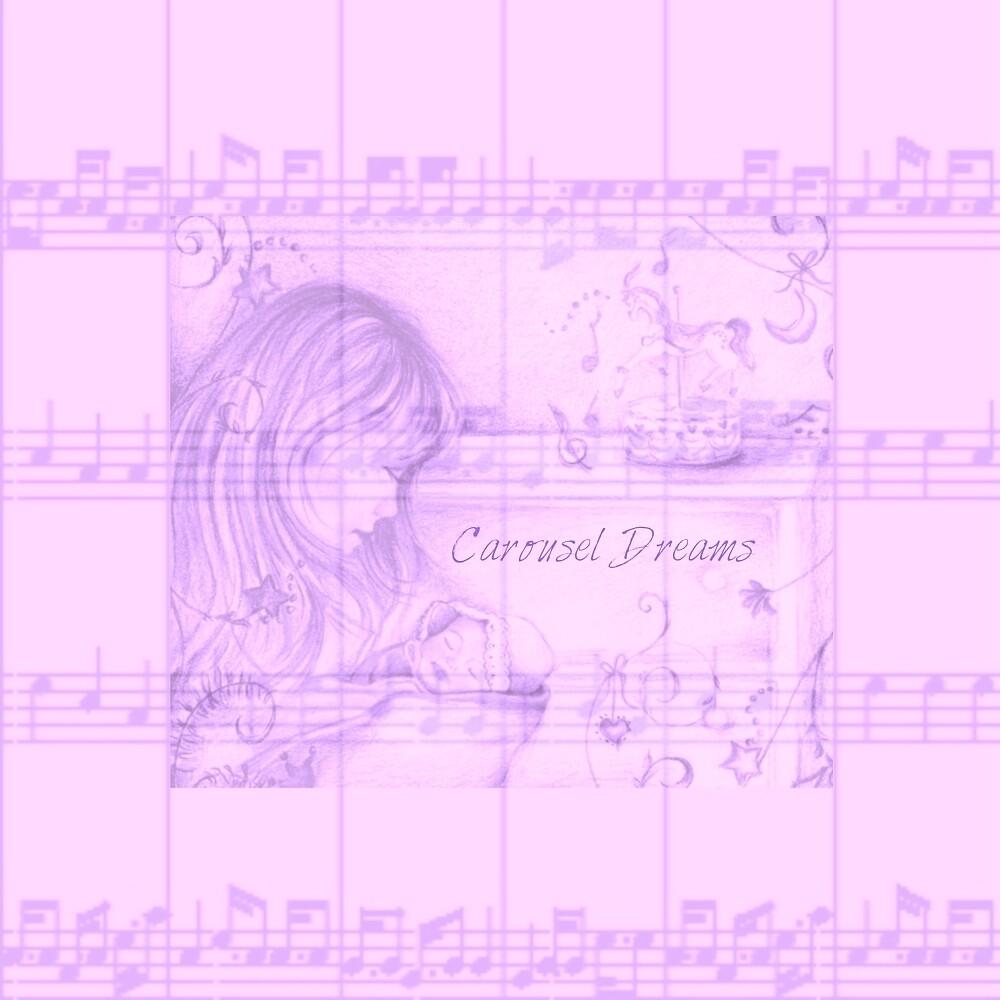 Vintage Carousel Dreams Soft Purple Sheet Music by moondreamsmusic