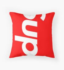 Red i Phone X Throw Pillow
