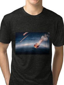 Meteorites on their way to earth Tri-blend T-Shirt