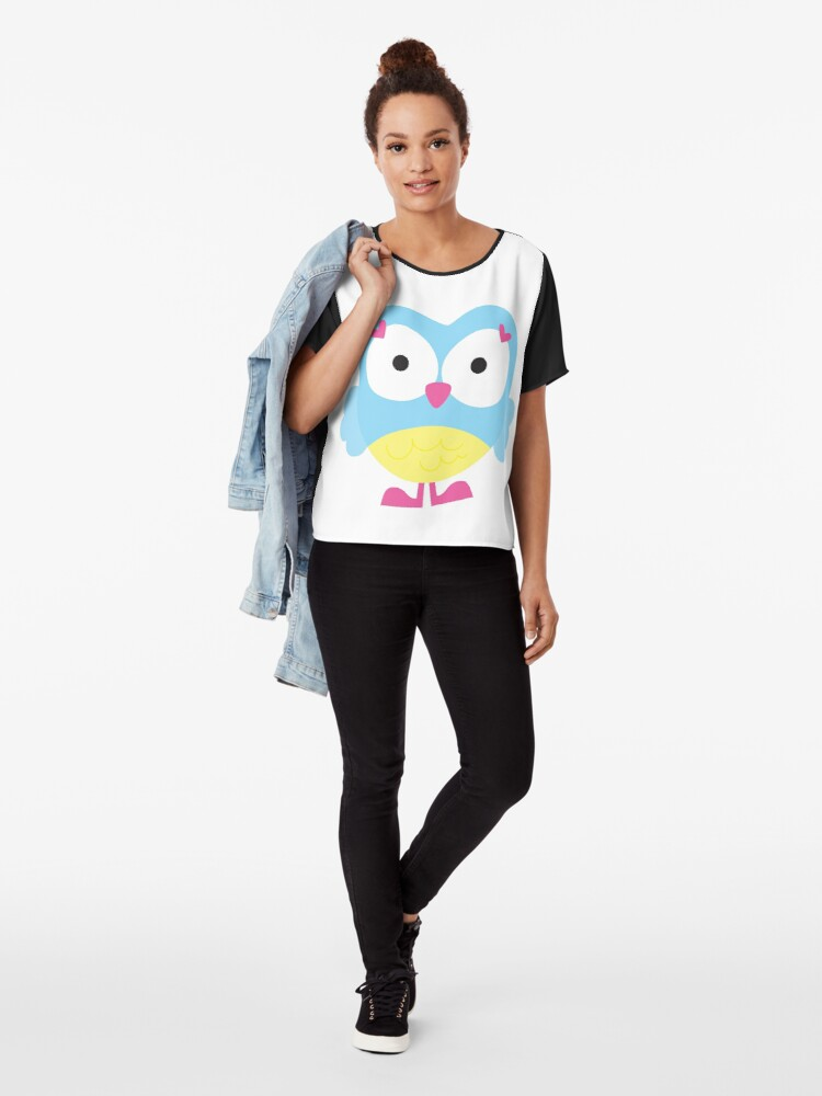 Alternate view of Sweet Owl Chiffon Top