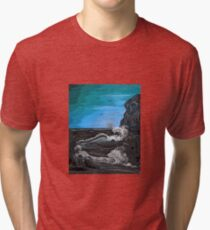 'Raging sea - Old man of the Rocks' Tri-blend T-Shirt