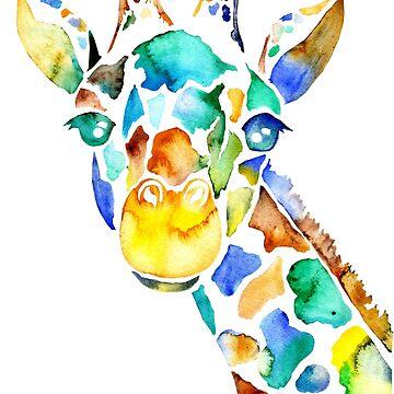 Watercolor Giraffe by missmann