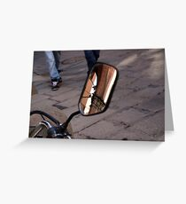 Street Reflections Greeting Card
