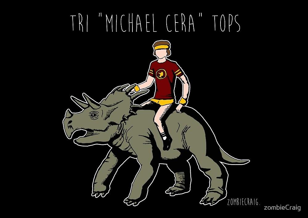 """Tri """"Michael Cera"""" tops by zombieCraig"""