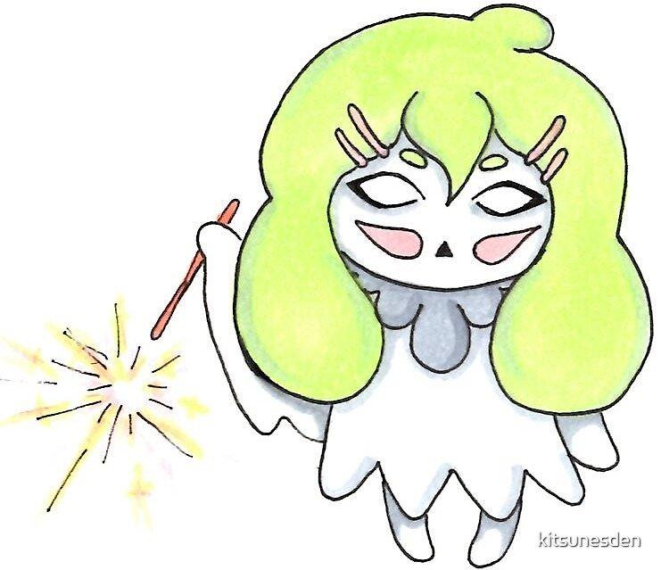 Sparkler Ghostie by kitsunesden