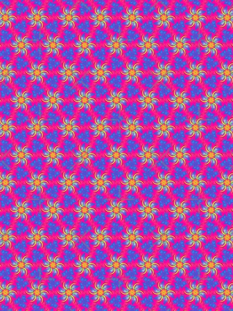 Daisy Swirl Pink Girl Pattern by webgrrl