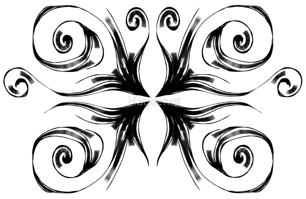 Butterfly Black and White by Haydehnt