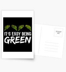 Es ist einfach grün zu sein Postkarten