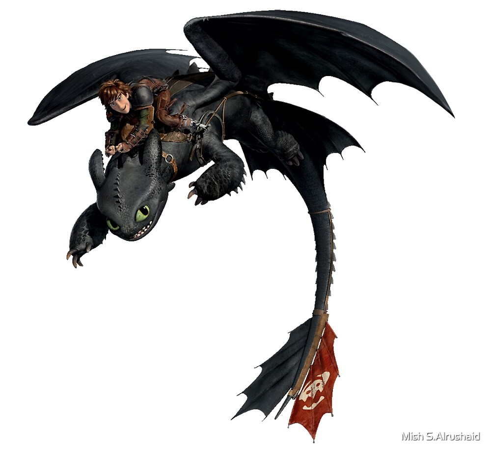 Toothless and Hiccup by Mish S.Alrushaid