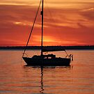 Summer Sunset with Boat - Isle of Wight by oliver9523
