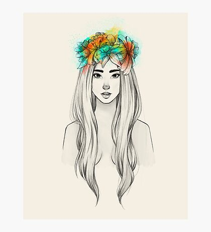 Flower Queen Photographic Print