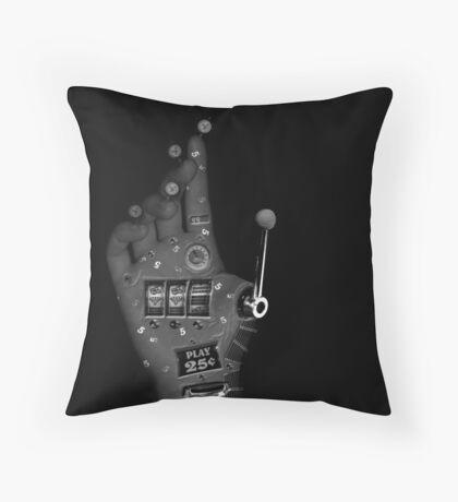 steampunk machine hand Throw Pillow
