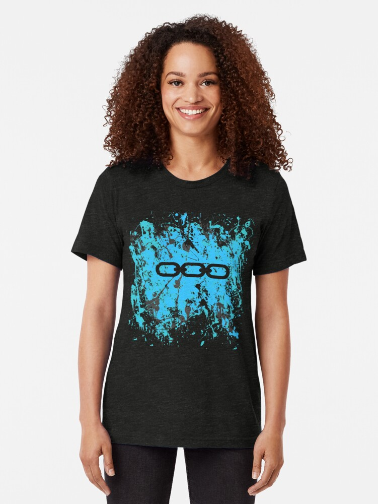 Alternate view of Bioshock Chains of EVE Tri-blend T-Shirt