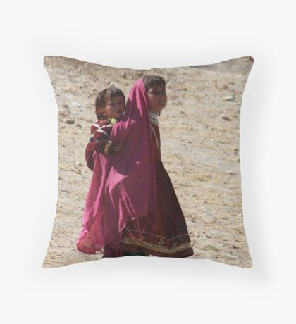 Sisters (Afghanistan) Throw Pillow
