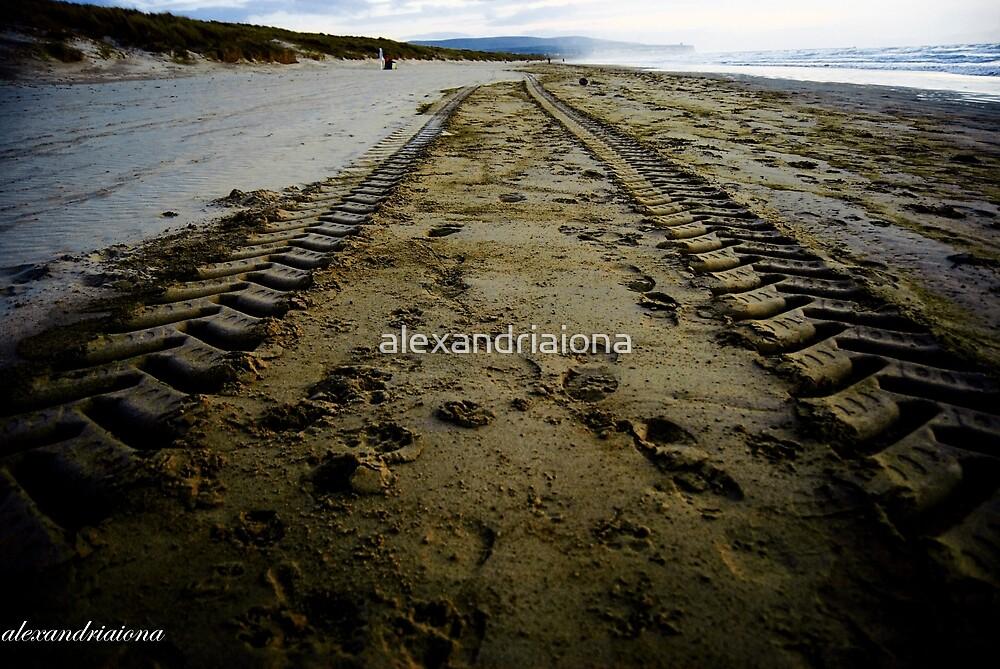 Sand Tyre Tracks - Portstewart Strand by alexandriaiona