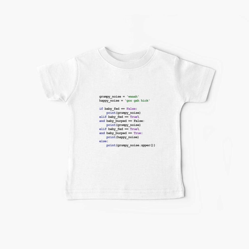 Python Code New Baby - Rock baby para dormir Camiseta para bebés