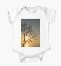 A Filigree of Branches Framing the Sunrise One Piece - Short Sleeve