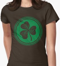 Clover & Braid - dark green Womens Fitted T-Shirt