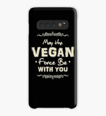 Funda/vinilo para Samsung Galaxy May The Vegan Force Be With You - Vegetarians Shirt for Vegan People - Shirt and Hoodies for Vegans - Veganism Shirt - Gifts For Vegetarians -
