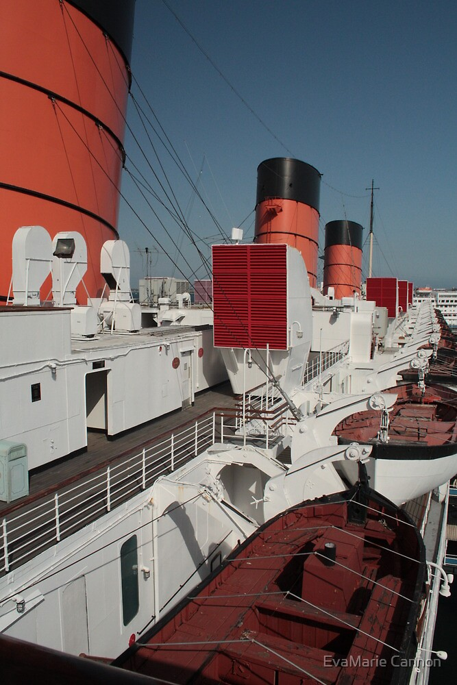 Port Side...Queen Mary...Looking Aft... by EvaMarie Cannon