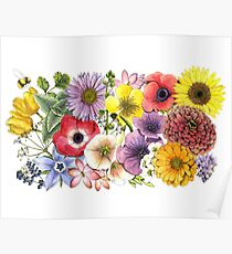 Plant These Save the Bees Poster