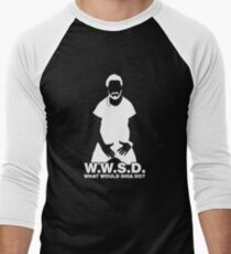 What Would Shia LaBeouf Do? WHITE Men's Baseball ¾ T-Shirt