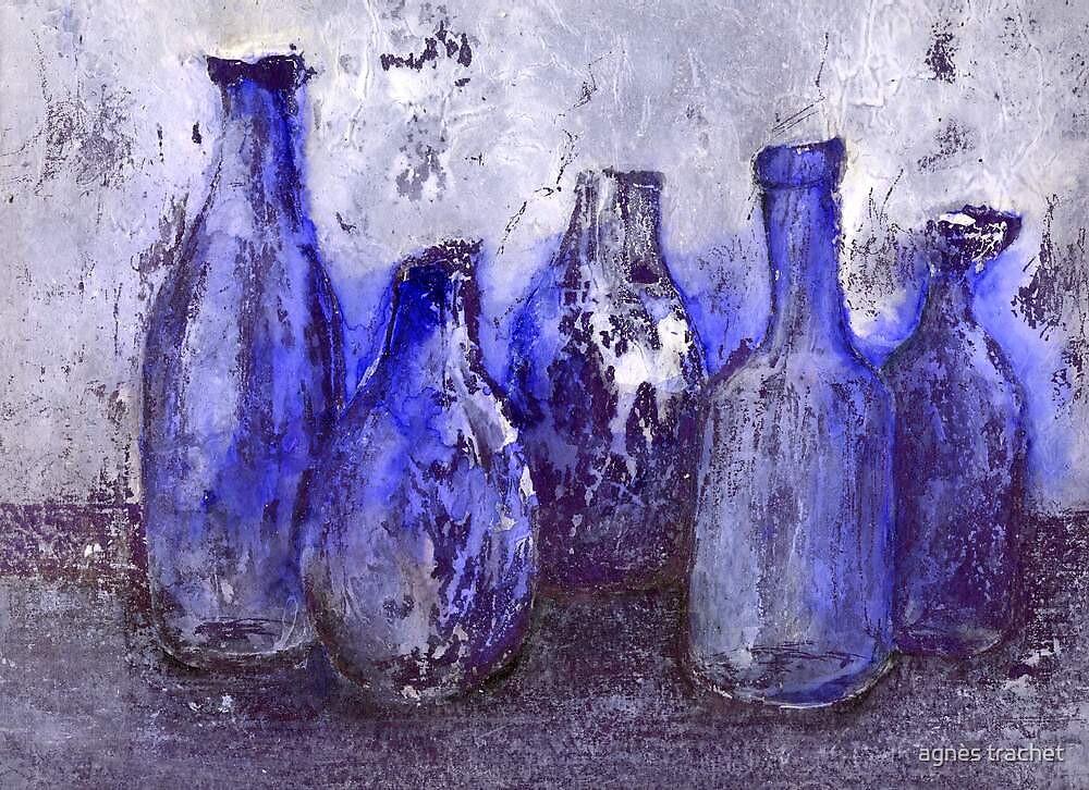 blue bottles by agnès trachet
