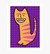 Be happy. Be the cat. Art Print