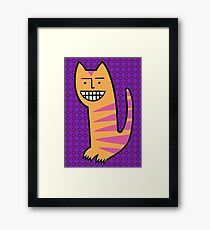 Be happy. Be the cat. Framed Print