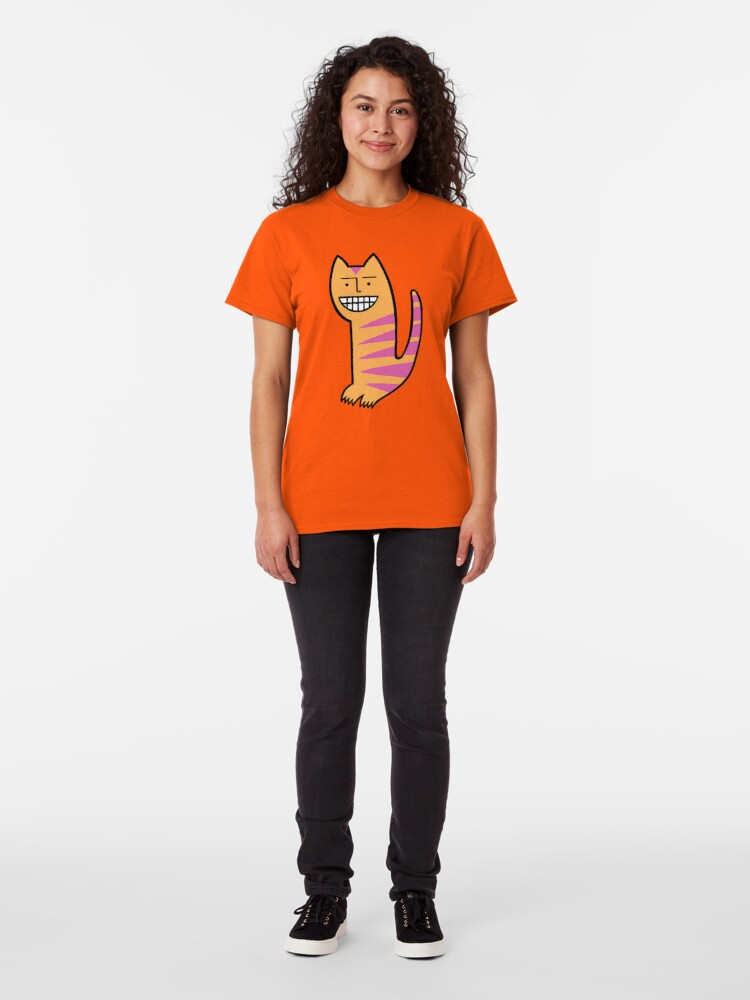 Alternate view of Be happy. Be the cat. Classic T-Shirt