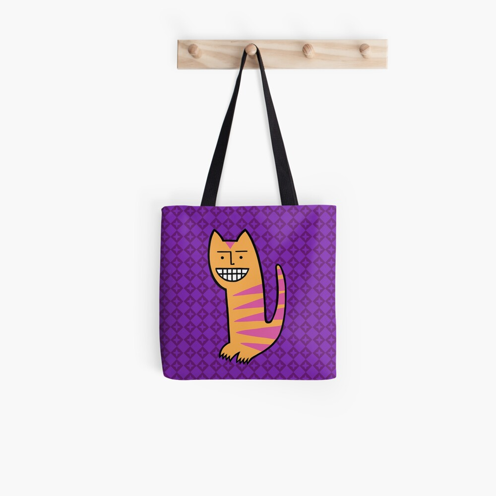 Be happy. Be the cat. Tote Bag