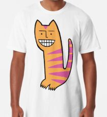 Be happy. Be the cat. Long T-Shirt