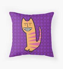 Be happy. Be the cat. Floor Pillow