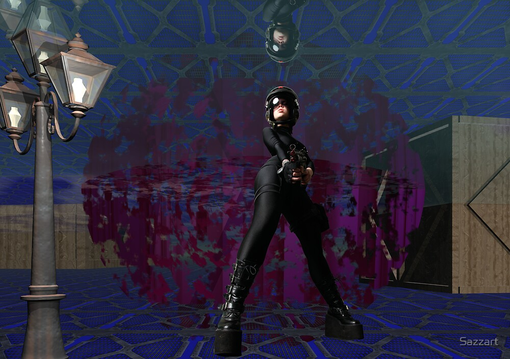 Psychic Wars - Inside Warehouse 13 by Sazzart